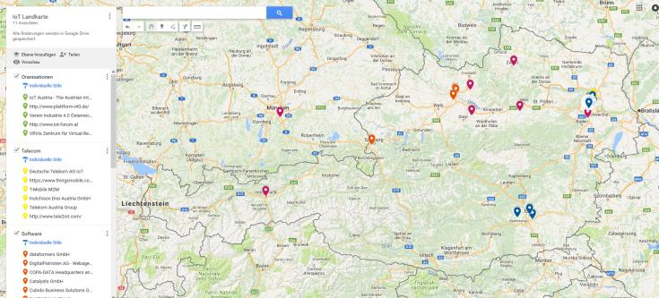 IoT-Landkarte